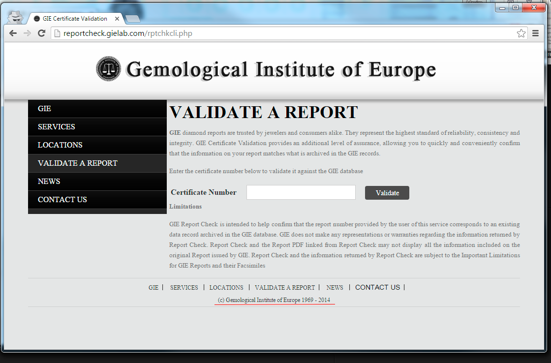 GIE : Gemological Institute of Europe